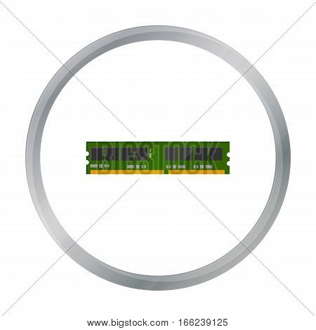 RAM icon in cartoon style isolated on white background. Personal computer symbol vector illustration. - stock vector