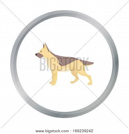 German shepherd vector illustration icon in cartoon design - stock vector