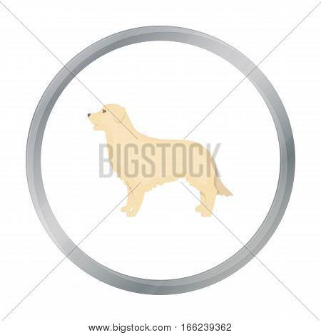 Retriever vector illustration icon in cartoon design - stock vector