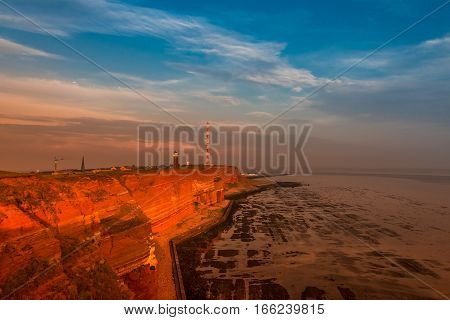 Helgoland - Island In North Sea, Natural Resort At Sunset