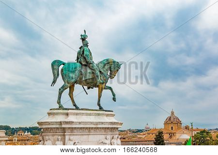 Altar Of The Fatherland In Rome Italy