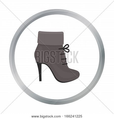 Woman boot icon of vector illustration for web and mobile design - stock vector