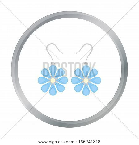 Earrings icon of vector illustration for web and mobile design - stock vector