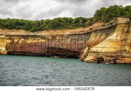Painted cliff at Pictured Rocks National Lakeshore