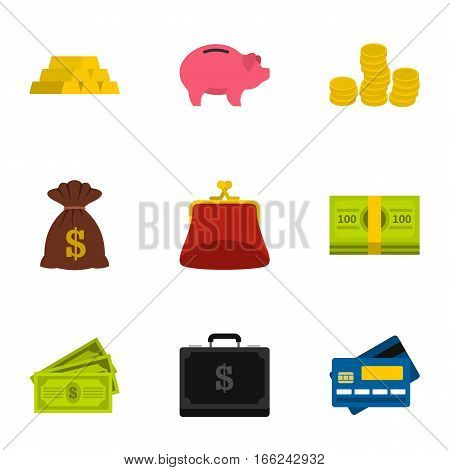 Funding icons set. Flat illustration of 9 funding vector icons for web