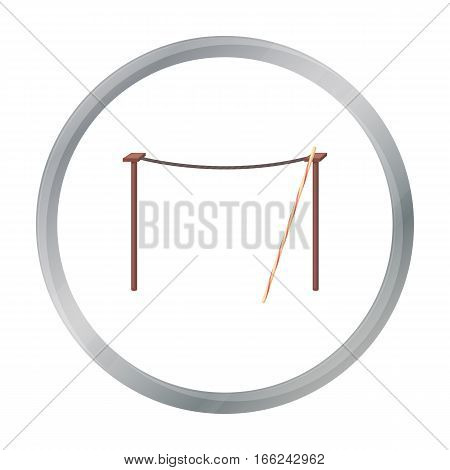 Tightrope icon in cartoon style isolated on white background. Circus symbol vector illustration. - stock vector
