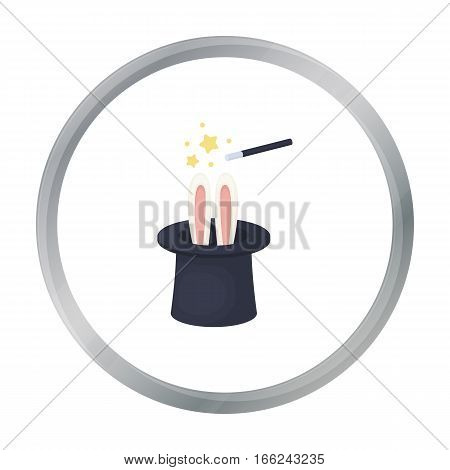 Magical hat icon in cartoon style isolated on white background. Circus symbol vector illustration. - stock vector