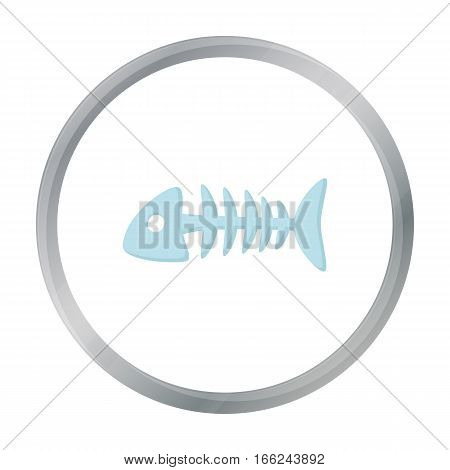 Fish bone icon of vector illustration for web and mobile design - stock vector