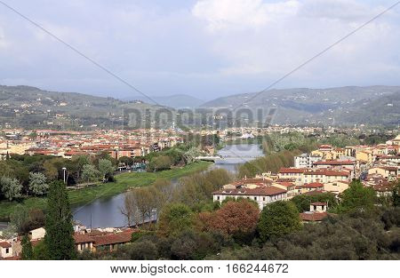 The city view of Florence in Italy