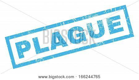 Plague text rubber seal stamp watermark. Tag inside rectangular shape with grunge design and unclean texture. Inclined vector blue ink emblem on a white background.