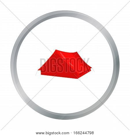 Tourist tent icon of vector illustration for web and mobile design - stock vector