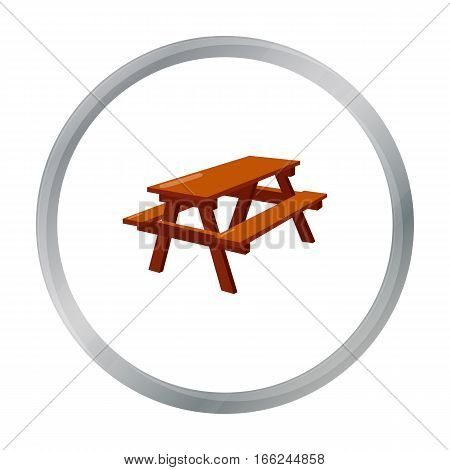 Bench icon of vector illustration for web and mobile design - stock vector