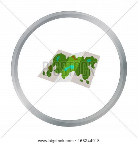 Map icon of vector illustration for web and mobile design - stock vector
