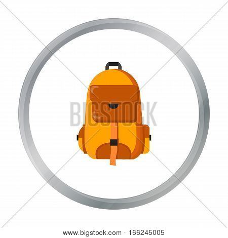 Hiking bag icon of vector illustration for web and mobile design - stock vector
