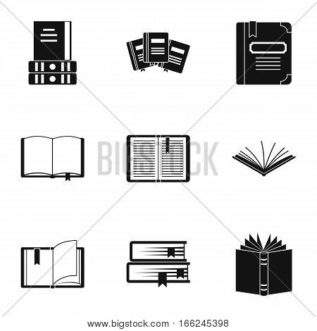 Reading icons set. Simple illustration of 9 reading vector icons for web