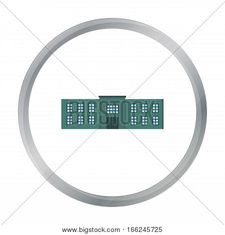 Police station icon cartoon. Single building icon from the big city infrastructure cartoon. - stock vector