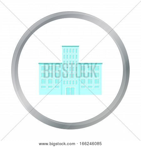 Hospital icon cartoon. Single building icon from the big city infrastructure cartoon. - stock vector