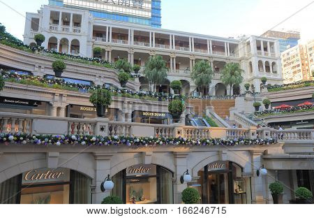 HONG KONG - NOVEMBER 7, 2016: Unidentified people visit 1881 Heritage shopping mall. 1881 Heritage is The Former Marine Police Headquarters Compound built in 1884
