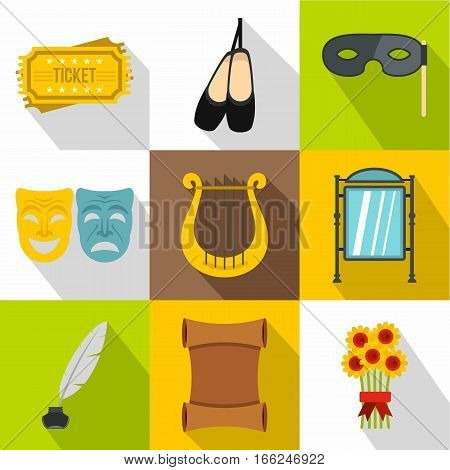 Performance icons set. Flat illustration of 9 performance vector icons for web