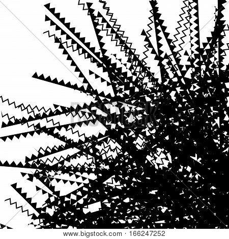 Edgy Zig-zag Lines Monochrome Texture, Pattern. Random Lines Geometric Art