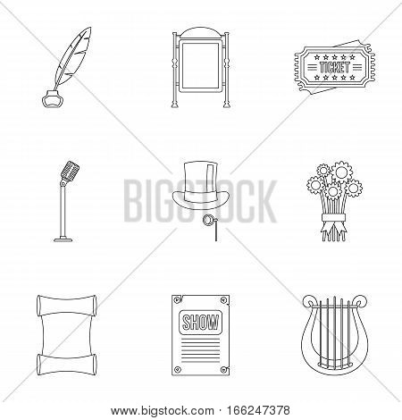 Performance icons set. Outline illustration of 9 performance vector icons for web