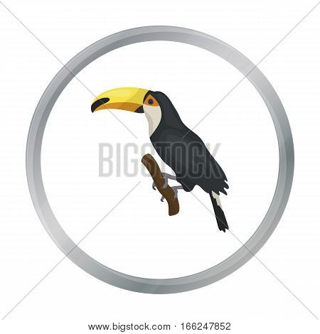 Brazilian toucan icon in cartoon design isolated on white background. Brazil country symbol stock vector illustration. - stock vector