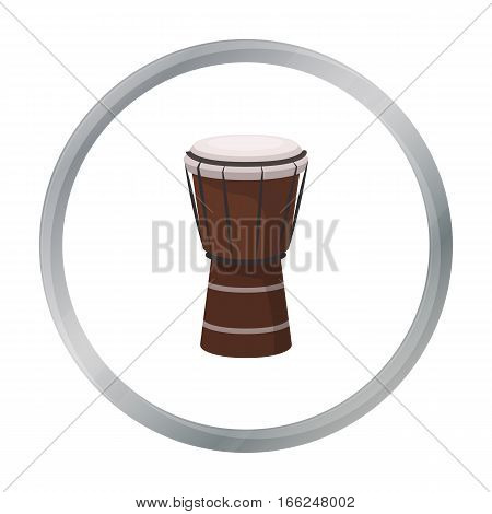 National brazilian drum icon in cartoon design isolated on white background. Brazil country symbol stock vector illustration. - stock vector