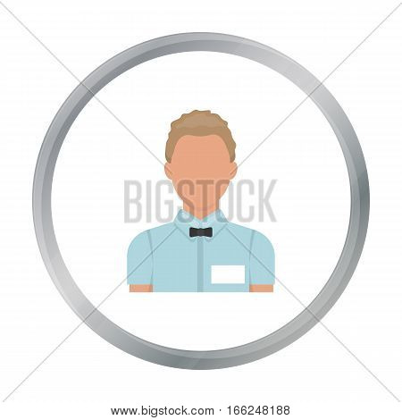 Boxing referee icon in cartoon style isolated on white background. Boxing symbol vector illustration. - stock vector