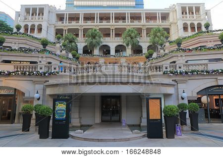 HONG KONG - NOVEMBER 7, 2016: Unidentified people visit 1881 Heritage shopping mall. 1881 Heritage is The Former Marine Police Headquarters Compound built in 1885