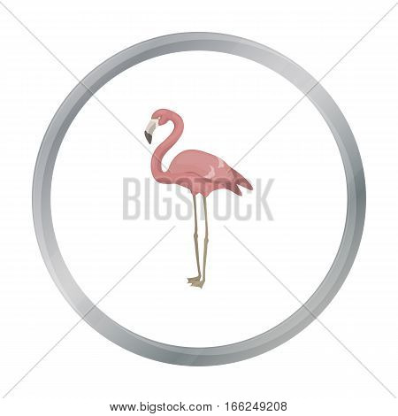 Flamingo icon in cartoon style isolated on white background. Bird symbol vector illustration. - stock vector