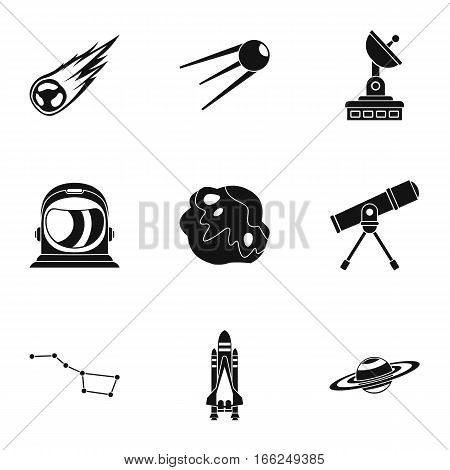 Cosmos icons set. Simple illustration of 9 cosmos vector icons for web