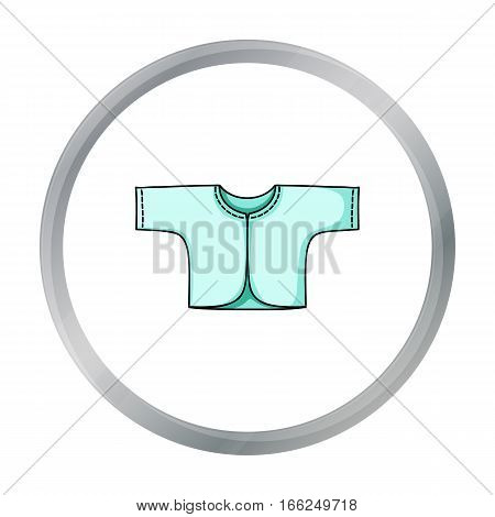 Baby loose jacket icon in cartoon style isolated on white background. Baby born symbol vector illustration. - stock vector