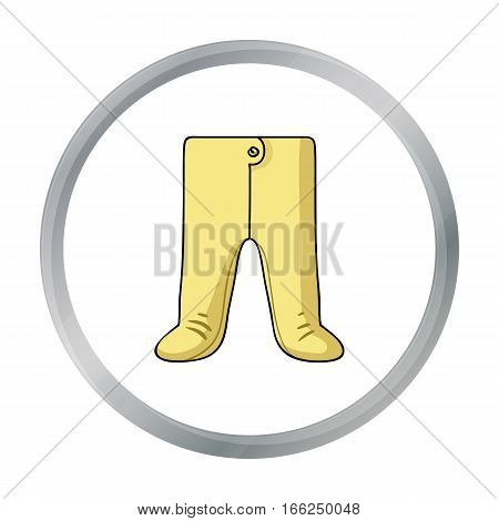 Baby romper icon in cartoon style isolated on white background. Baby born symbol vector illustration. - stock vector