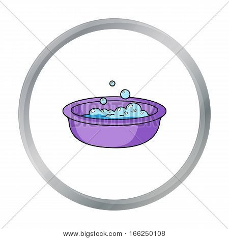 Baby bath icon in cartoon style isolated on white background. Baby born symbol vector illustration. - stock vector