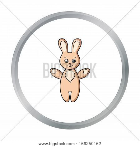 Rabbit toy icon in cartoon style isolated on white background. Baby born symbol vector illustration. - stock vector