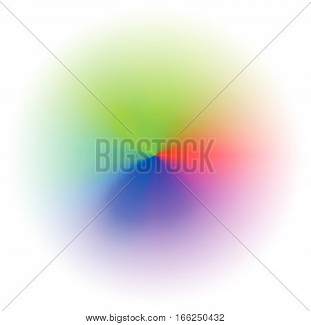 Color Wheel / Color Chart With Blended, Faded Circles For Color Theory Concepts Or As Generic Elemen