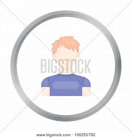 Redhead boy icon cartoon. Single avatar, peaople icon from the big avatar cartoon Stock vector - stock vector