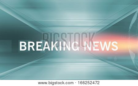 Graphical Breaking News Background with news text Orange Theme Background with White Breaking News Text.