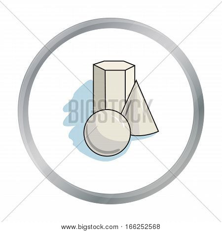 Geometric still life icon in cartoon style isolated on white background. Artist and drawing symbol vector illustration. - stock vector