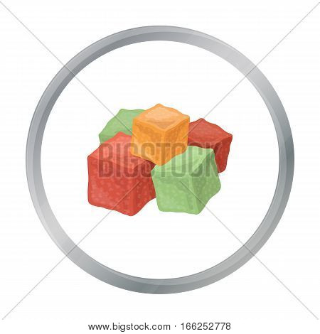 Turkish delight icon in cartoon style isolated on white background. Arab Emirates symbol vector illustration. - stock vector