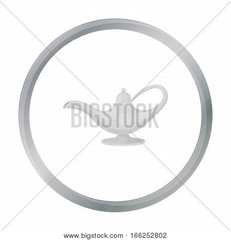 Oil lamp icon in cartoon style isolated on white background. Arab Emirates symbol vector illustration. - stock vector