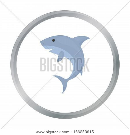Shark icon cartoon. Singe animal icon from the big animals cartoon. - stock vector