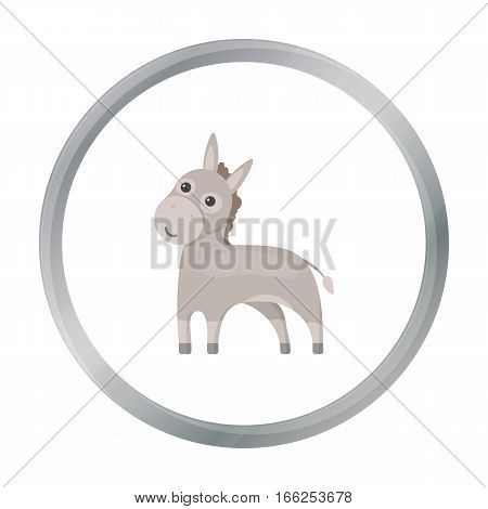 Donkey icon cartoon. Singe animal icon from the big animals monochrom Stock vector - stock vector
