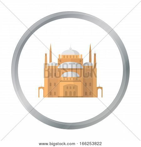 Cairo Citadel icon in cartoon style isolated on white background. Ancient Egypt symbol vector illustration. - stock vector