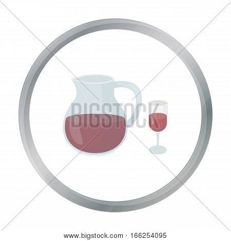 Sangria icon in cartoon style isolated on white background. Alcohol symbol vector illustration. - stock vector
