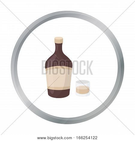 Liqueur icon in cartoon style isolated on white background. Alcohol symbol vector illustration. - stock vector