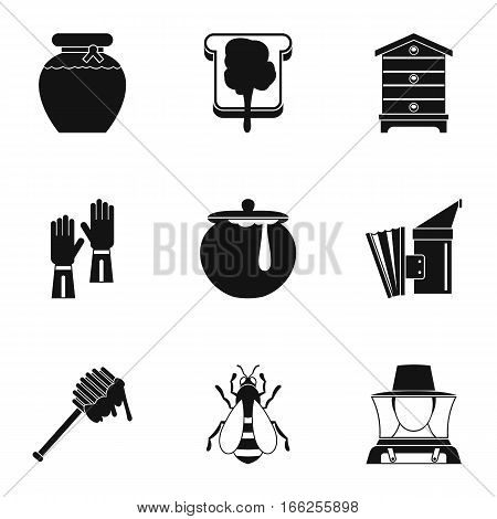 Apiary icons set. Simple illustration of 9 apiary vector icons for web