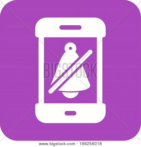 Mute, silent, alarm icon vector image. Can also be used for smartphone. Suitable for use on web apps, mobile apps and print media.