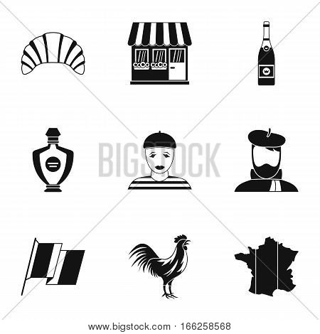 France Republic icons set. Simple illustration of 9 France Republic vector icons for web