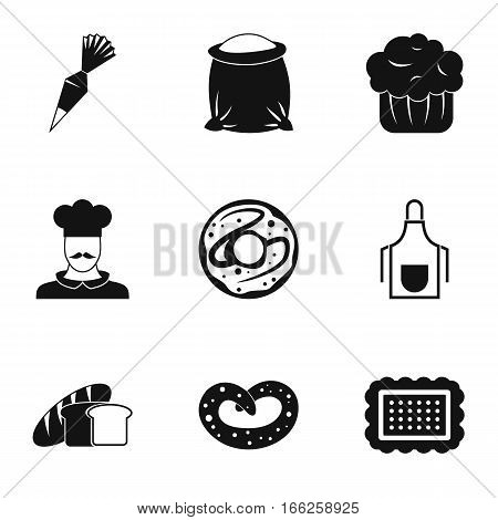 Patisserie icons set. Simple illustration of 9 patisserie vector icons for web